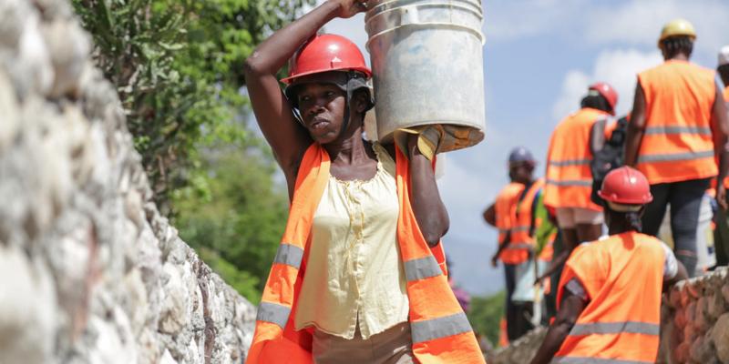 Projet de construction avec l' appui l'UNOPS en Haïti.