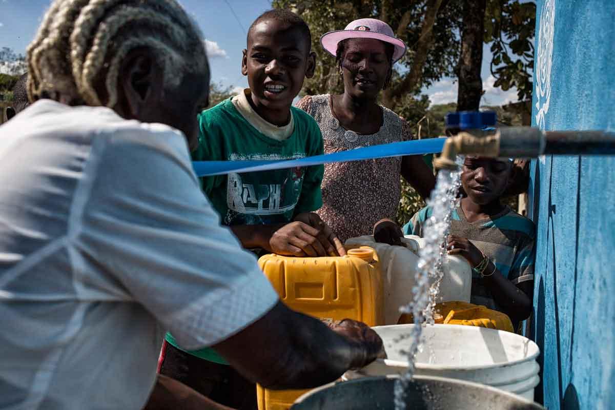 Source d'eau construite à Los Palmas avec le soutien de l'ONU.