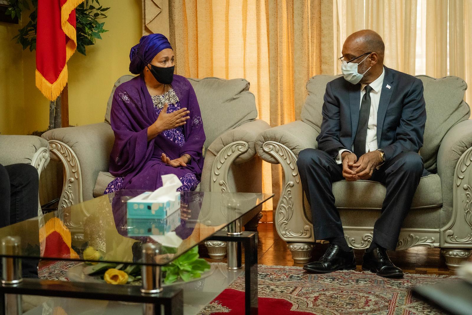 DSG Amina Mohammed et Pm Ariel Henry